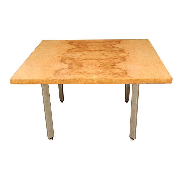 Milo Baughman Burl Wood Coffee Table For Sale