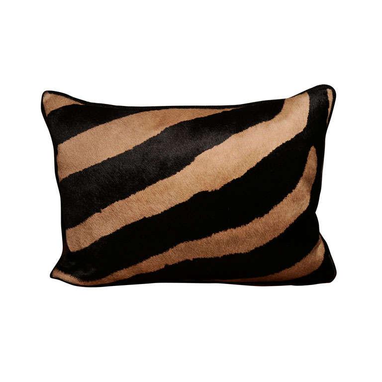 Custom Zebra Throw Pillow at 1stdibs