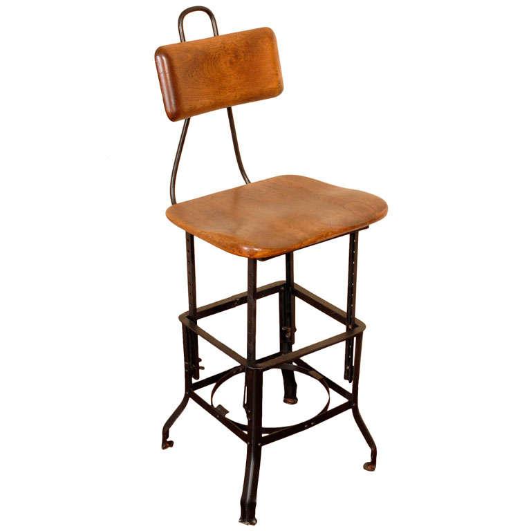 Vintage industrial drafting chair at 1stdibs
