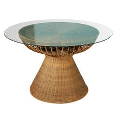 """Round Outdoor """"Lotus"""" Table By Miller Fong"""