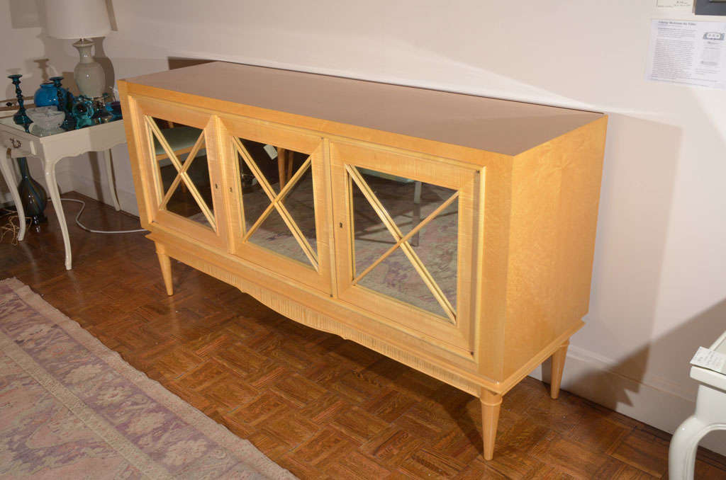 Mid century bleached maple credenza at 1stdibs for Bleached maple kitchen cabinets