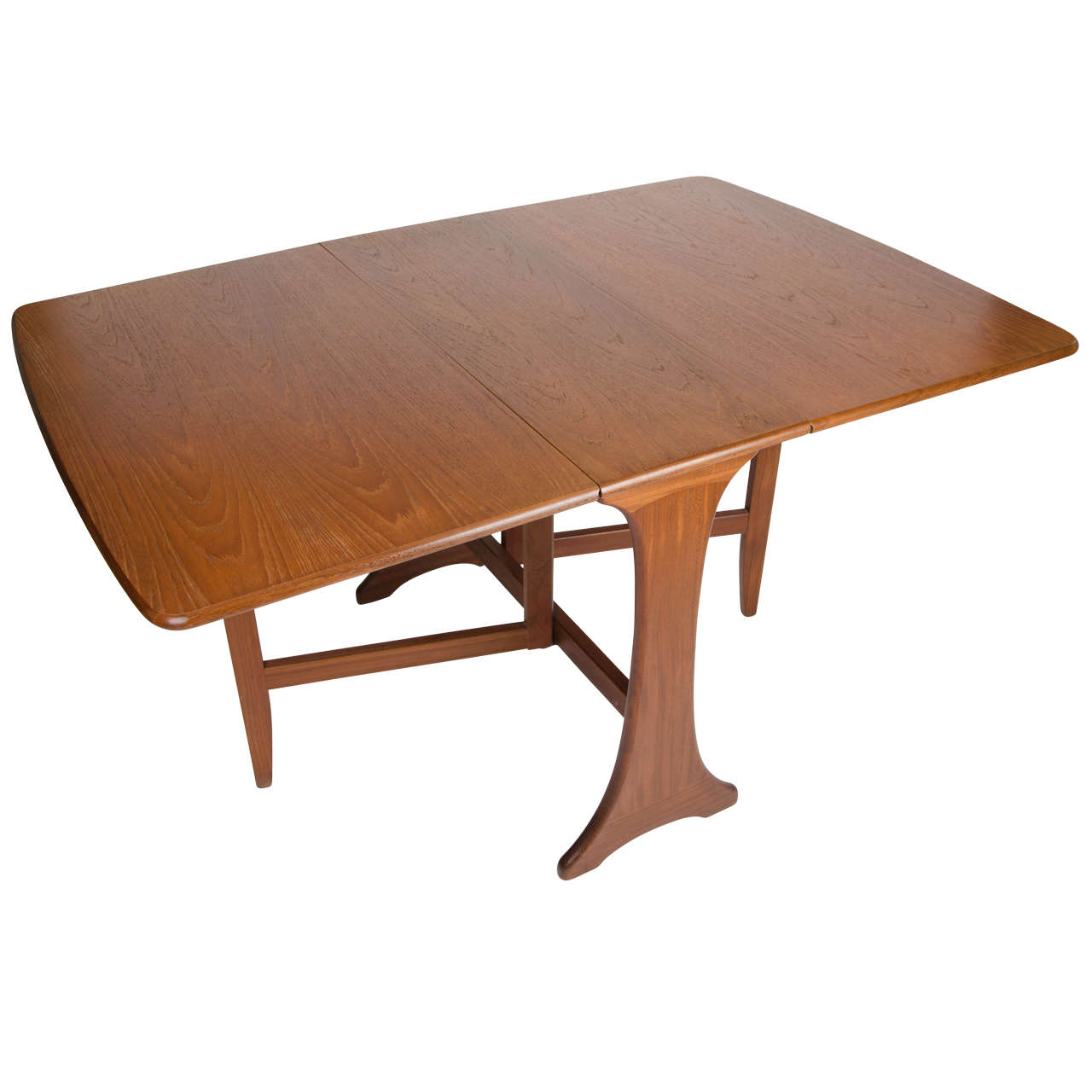 G Plan Mid Century Modern Dining Table Drop Leaf Makers Label, Circa 1950s
