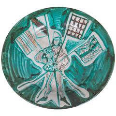 Robert Picault Faience dish, Vallauris, circa 1950