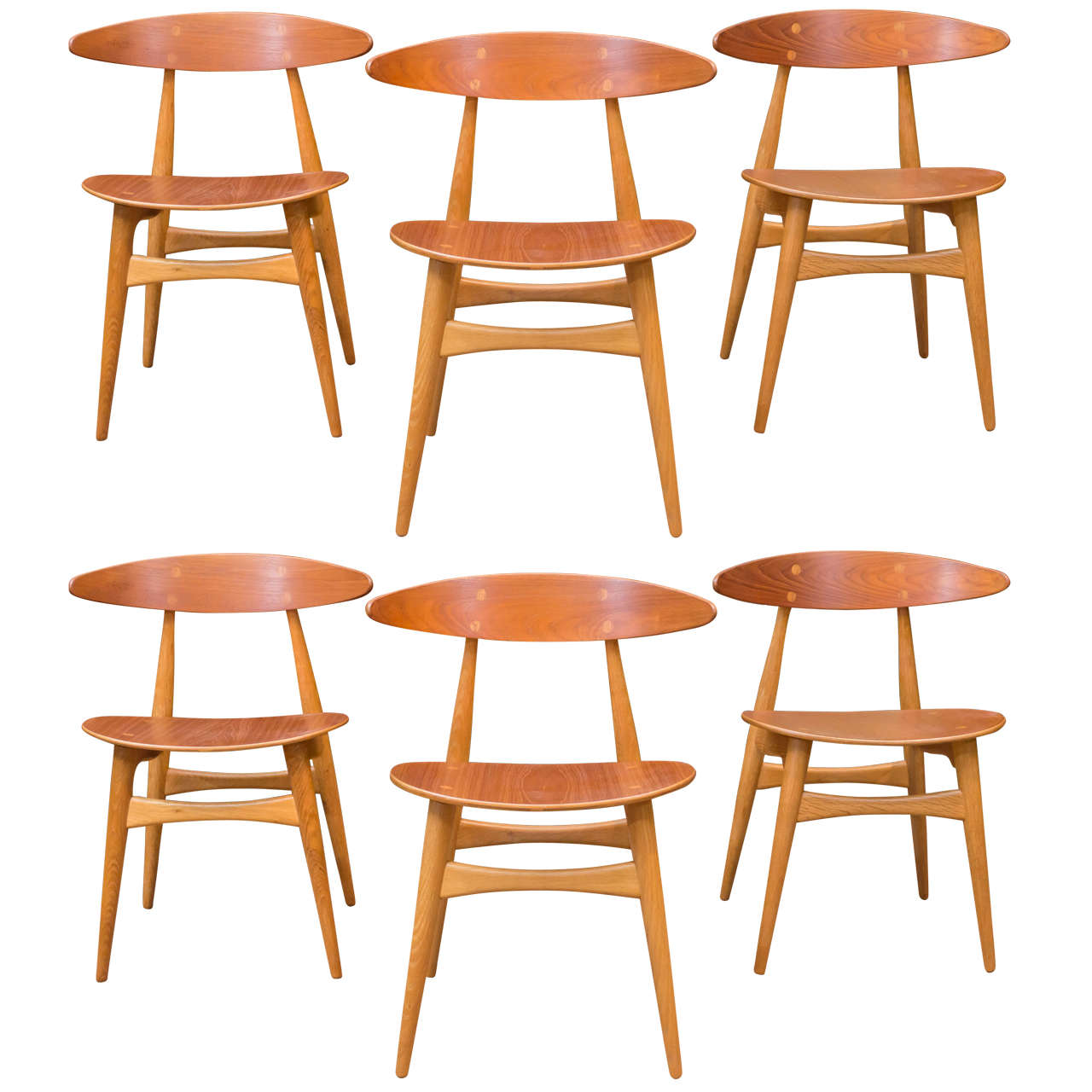 Hans j wegner ch33 dining chairs for sale at 1stdibs for Wegner dining chair