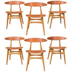 Hans J. Wegner CH33 Dining Chairs