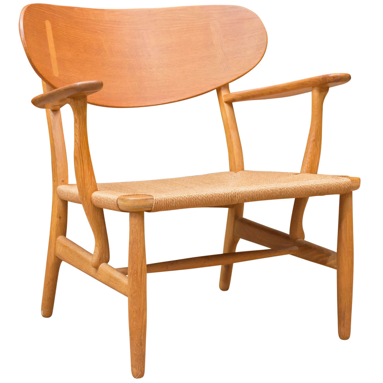 hans j wegner ch 22 chair at 1stdibs. Black Bedroom Furniture Sets. Home Design Ideas
