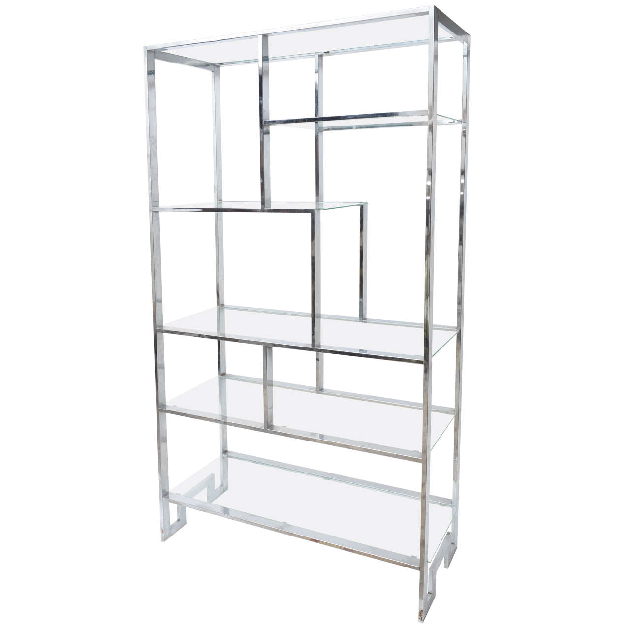 midcentury chrome milo baughman etagere for sale at 1stdibs. Black Bedroom Furniture Sets. Home Design Ideas