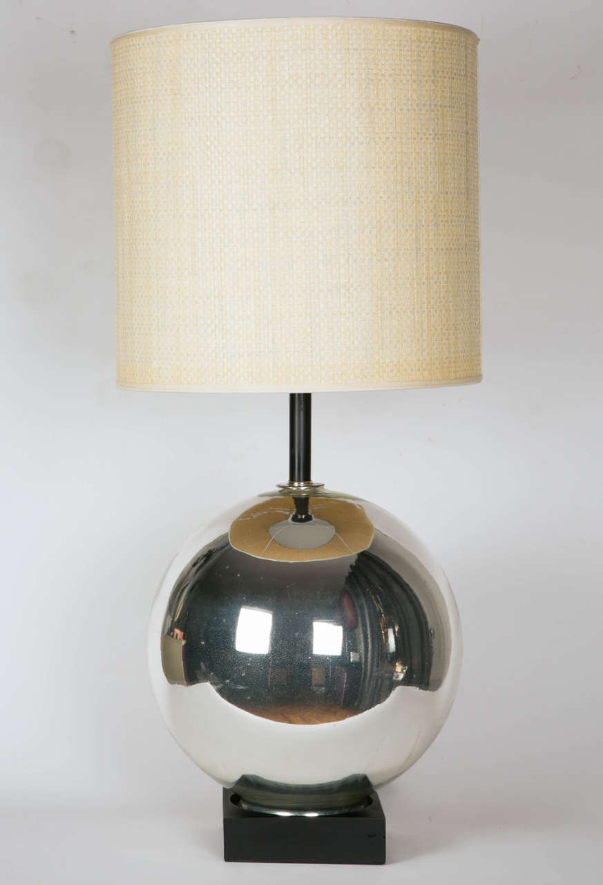 1930s Mercury Glass Table Lamp At 1stdibs
