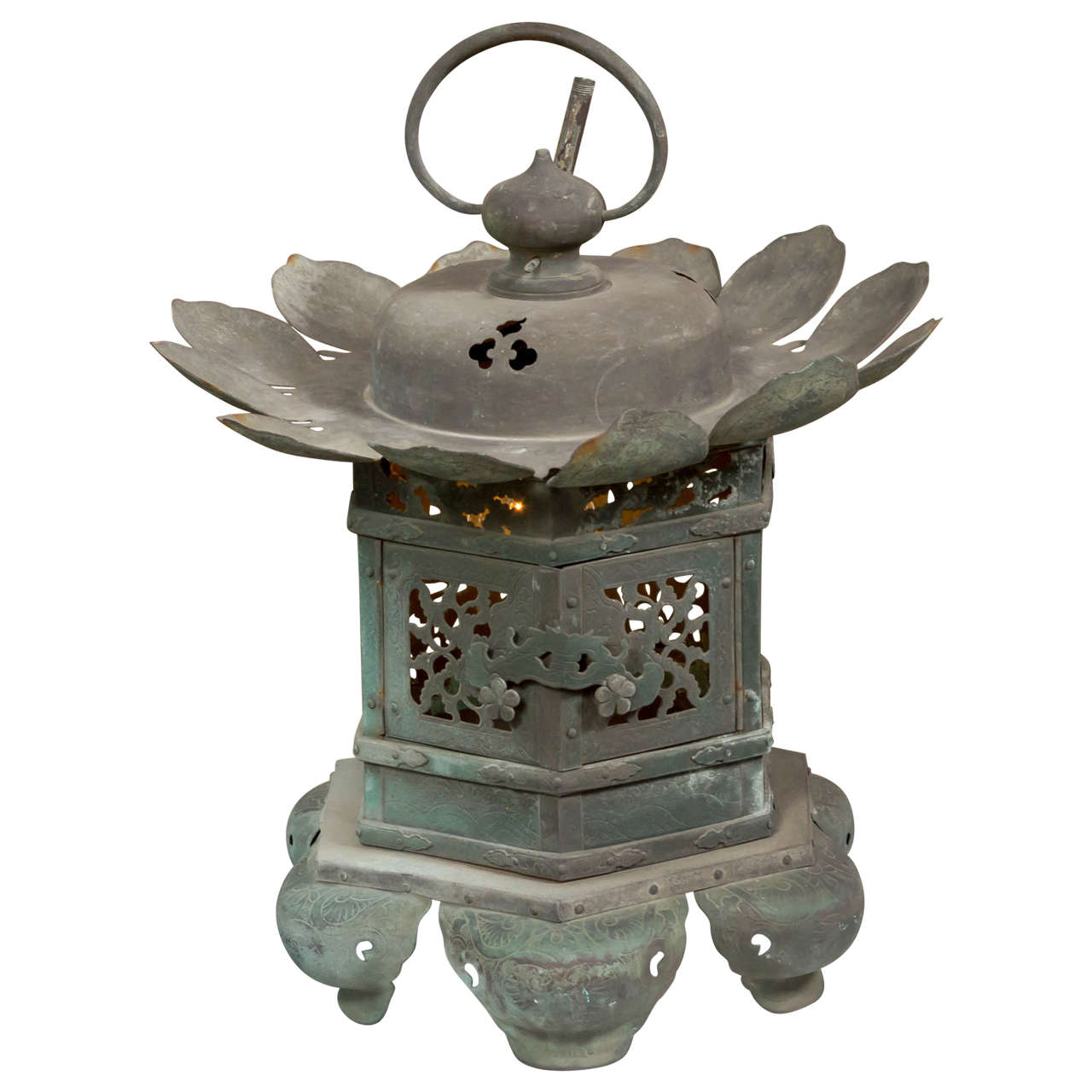 Antique Japanese Bronze Lantern At 1stdibs