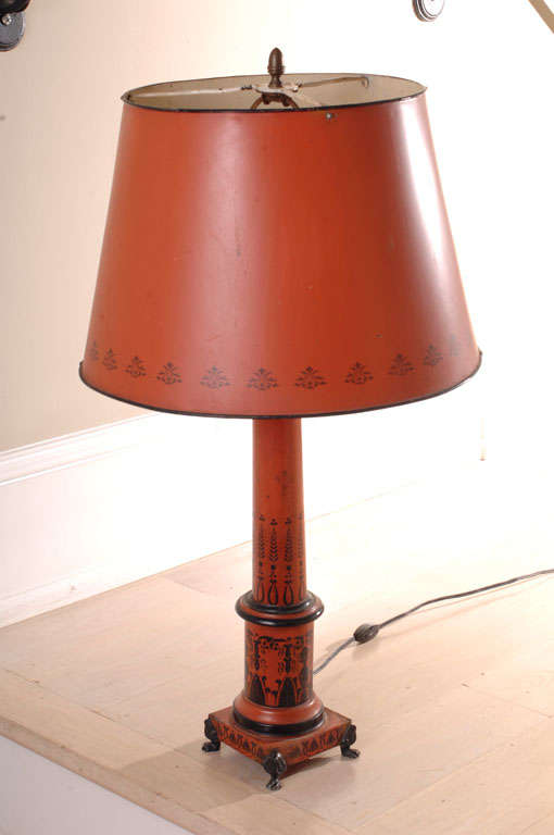 this red and black tole table lamp with tole lamp shade is no longer. Black Bedroom Furniture Sets. Home Design Ideas