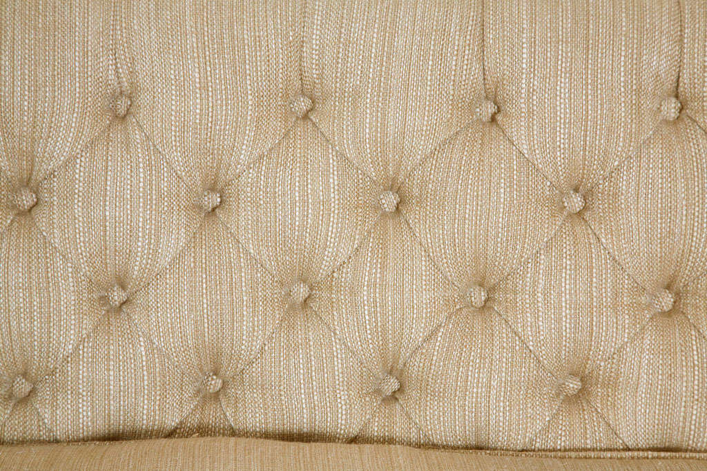 Large Button Tufted Sofa with Single Cushion and Nail Head Trim 4