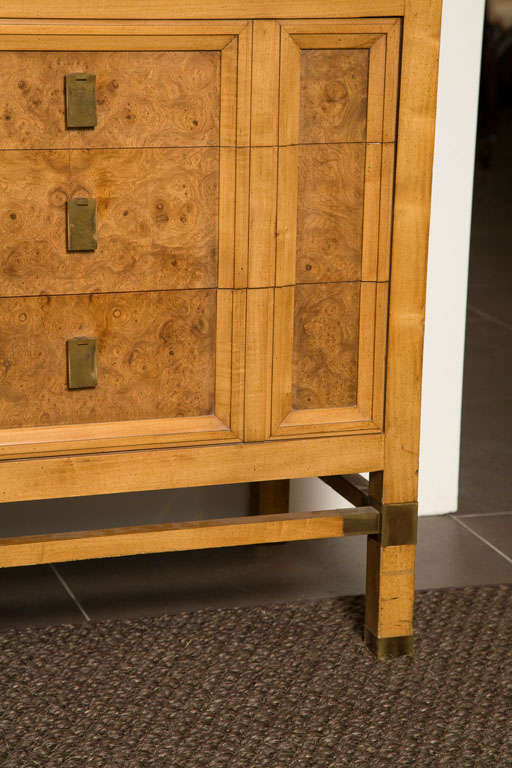 Vintage J L Metz Cabinet In Burled Wood Finish At 1stdibs