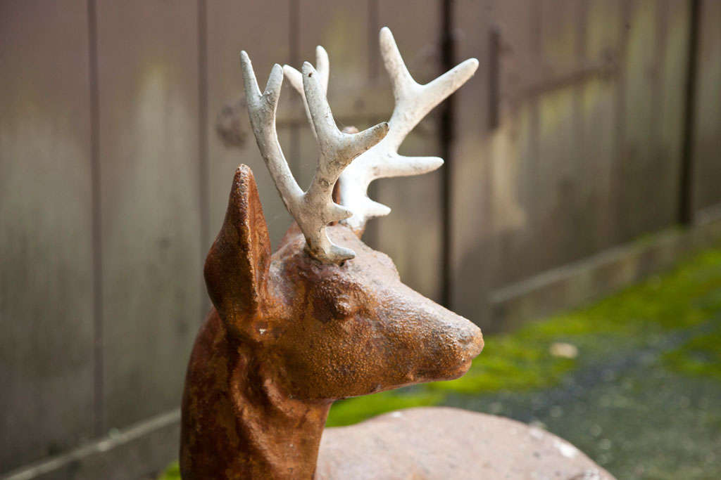 French Cast Iron Deer For Sale