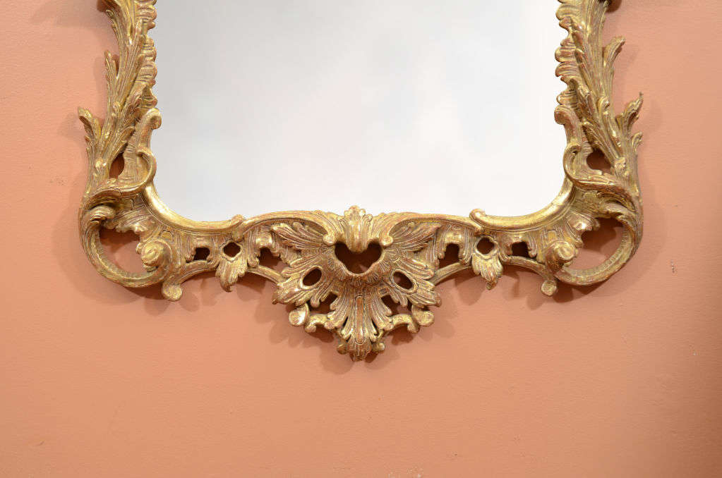 Fine George II Giltwood Mirror In Excellent Condition For Sale In New York, NY