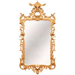 A Fine George II Gilt Wood Mirror