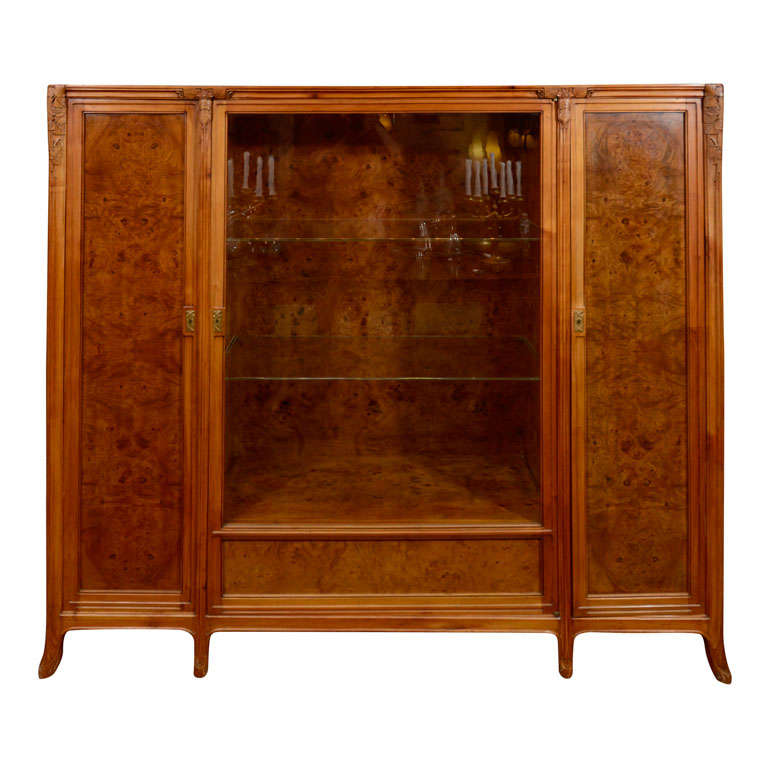 French Art Nouveau Display Cabinet By L 233 On Jallot At 1stdibs