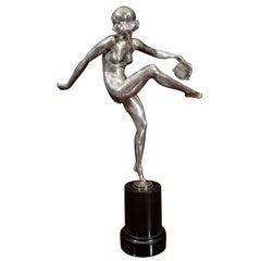 """An Art Deco Sculpture """"Tambourine"""" by, Pierre Laurel"""