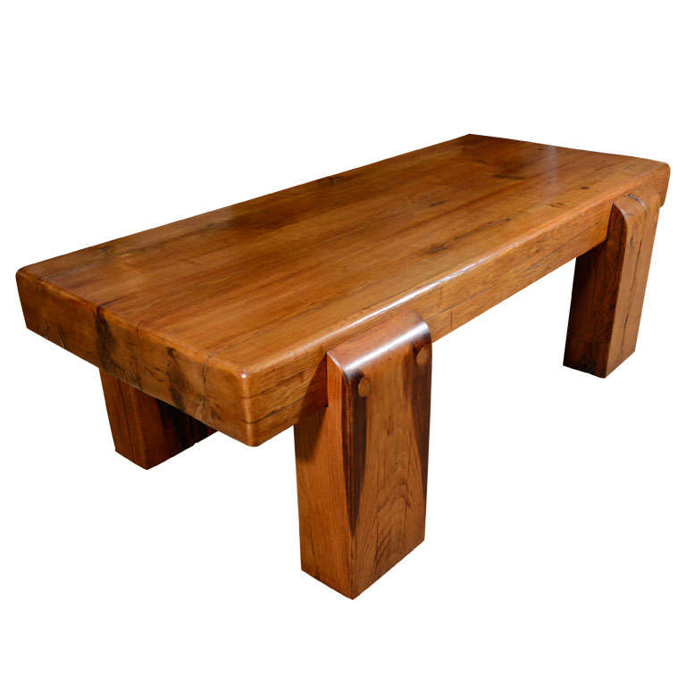 Massive Low Oak Table At 1stdibs