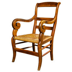 French fruitwood armchair, c. 1840
