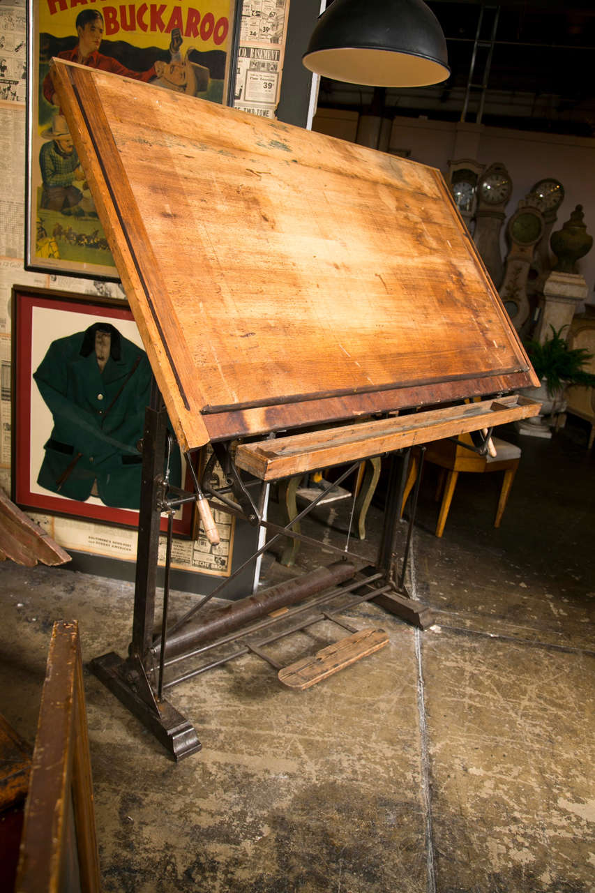 American beech wood drafting table c 1900 40 at 1stdibs for Table 6 4 specification for highway works