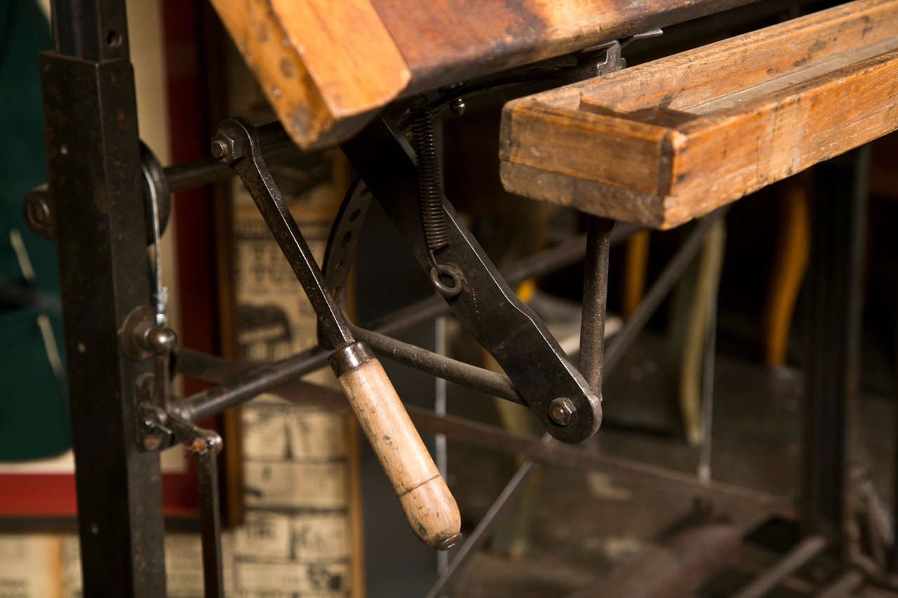 This American Beech Wood Drafting Table C 1900 40 Is No Longer
