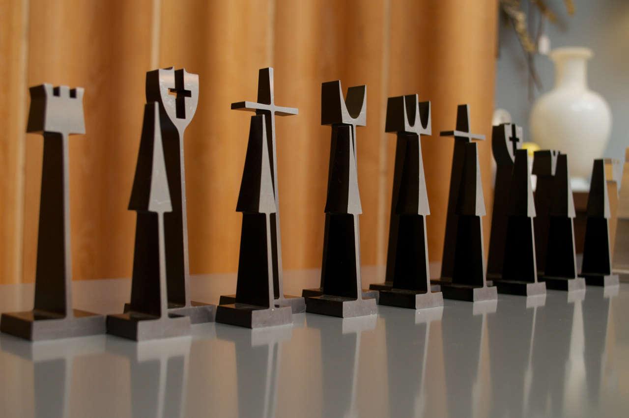 mid century modern chess set at 1stdibs