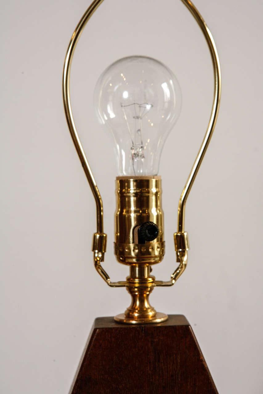Mid Century Hexagon Wood Lamp At 1stdibs