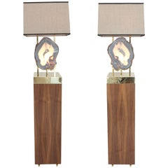 "Pair of Limited Edition ""Pedra"" Floor Lamps, Dragonette Private Label"