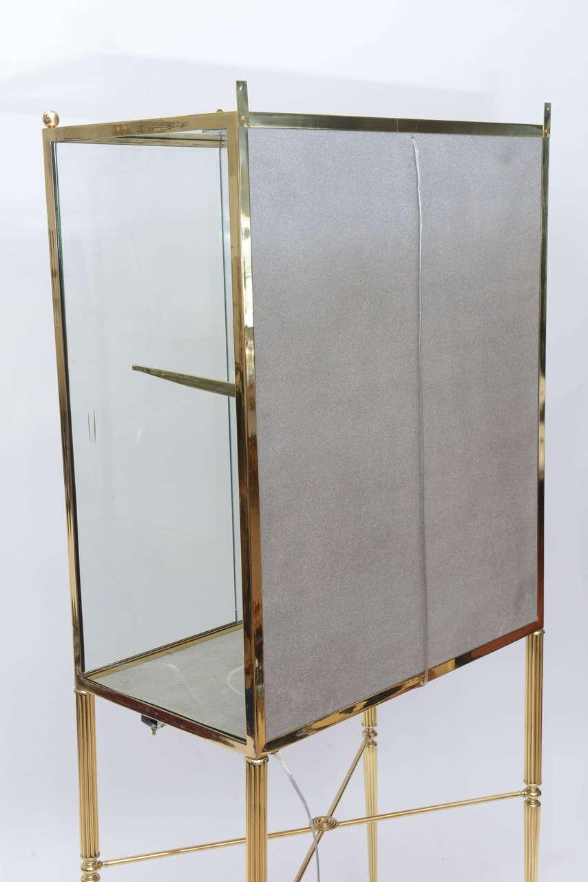 Brass and Glass Vitrine in the Manner of Osvaldo Borsani For Sale 5
