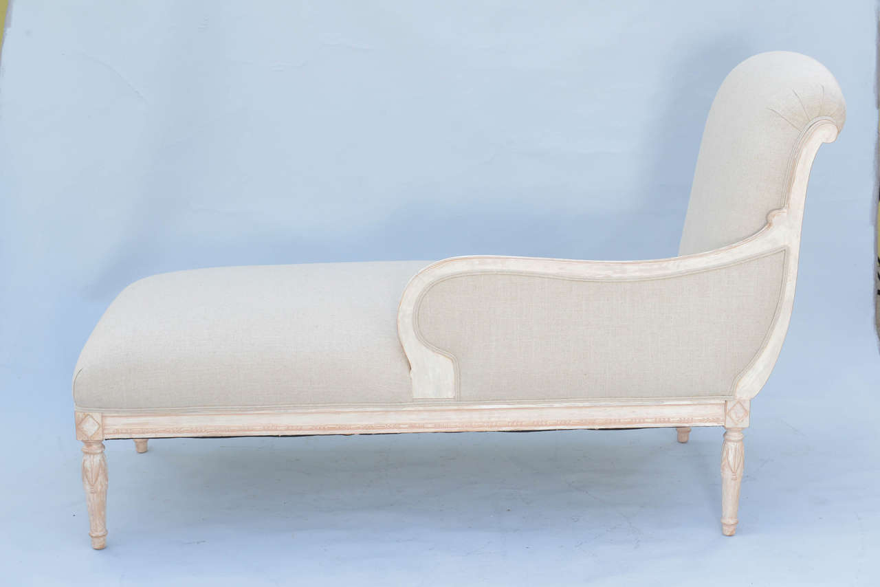 louis xvi style recamier chaise at 1stdibs