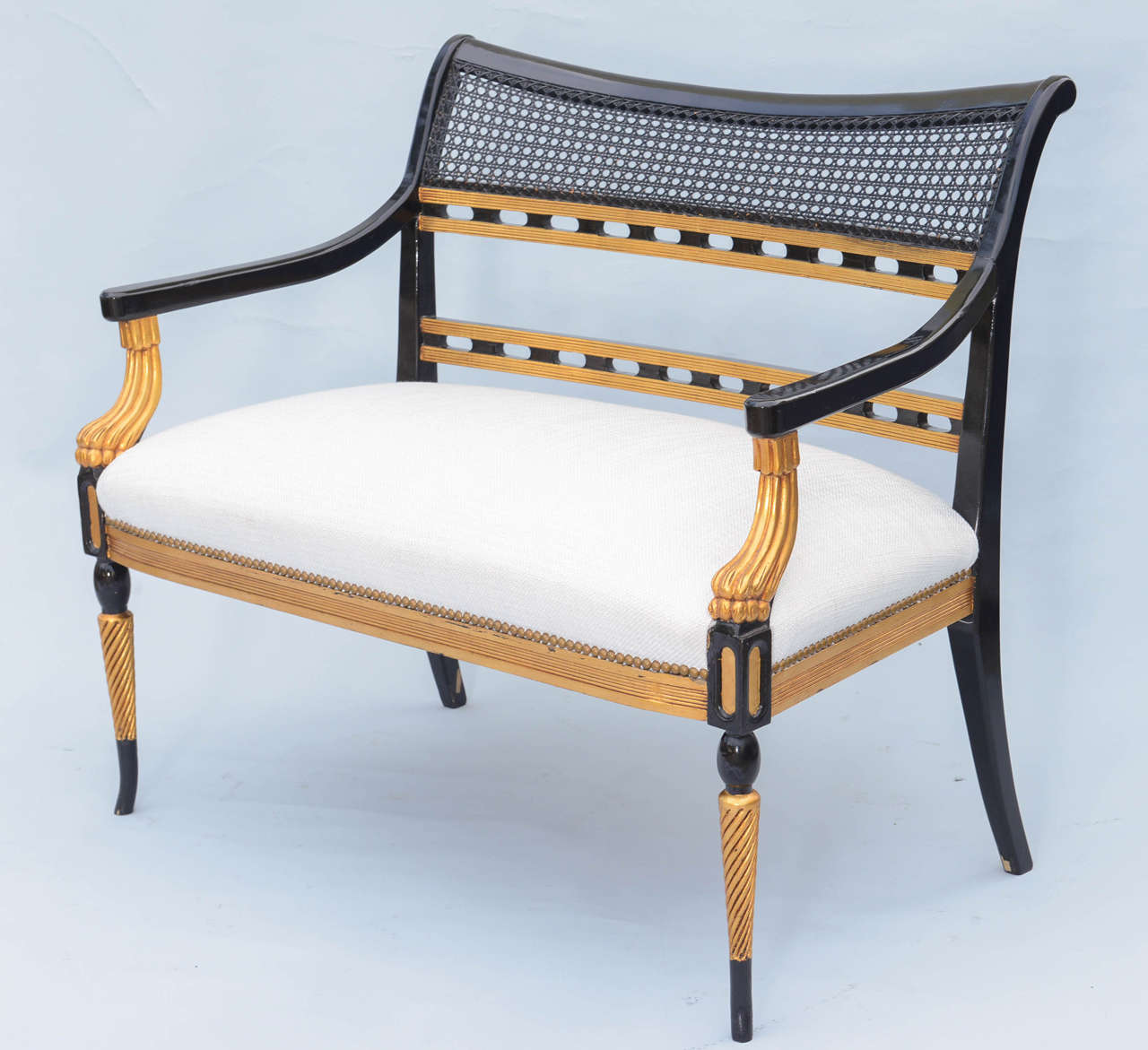 Regency style lacquer and gilt settee for sale at 1stdibs for Settees for sale