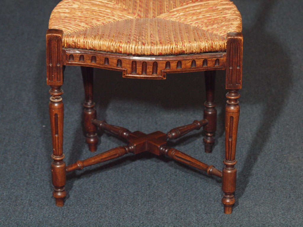 Set of 8 Antique French Country Dining Room Chairs 1