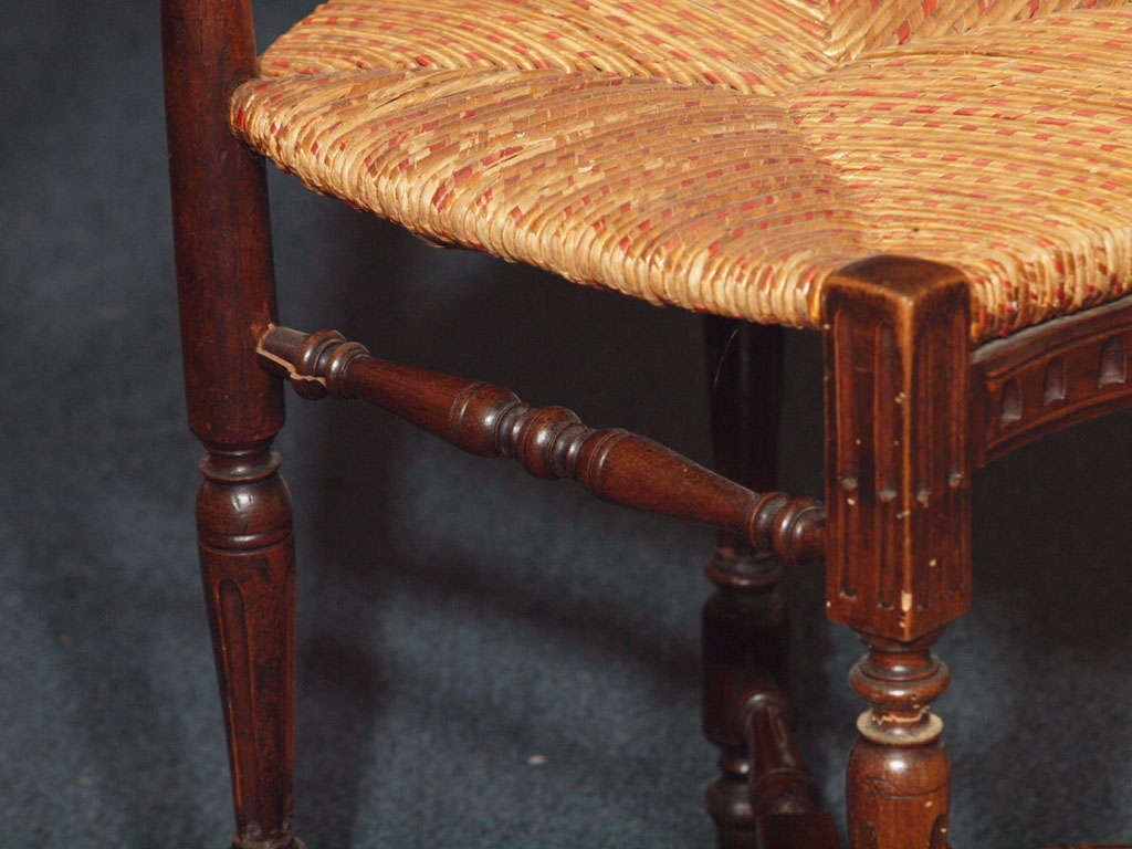 Set of 8 Antique French Country Dining Room Chairs 4