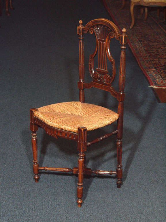 Set of 8 Antique French Country Dining Room Chairs 5