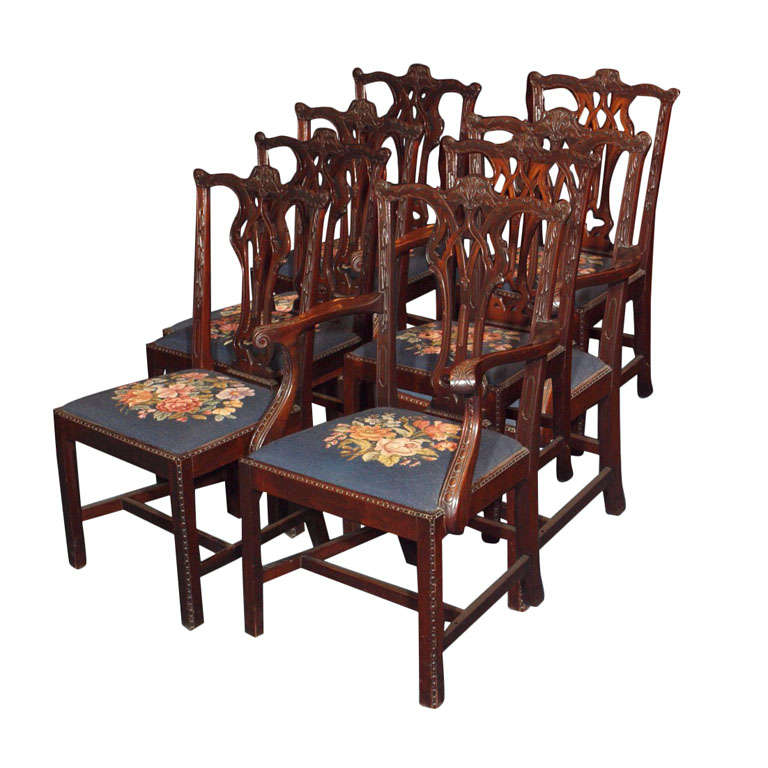 Set of 8 mahogany dining room chairs at 1stdibs for 8 dining room chairs