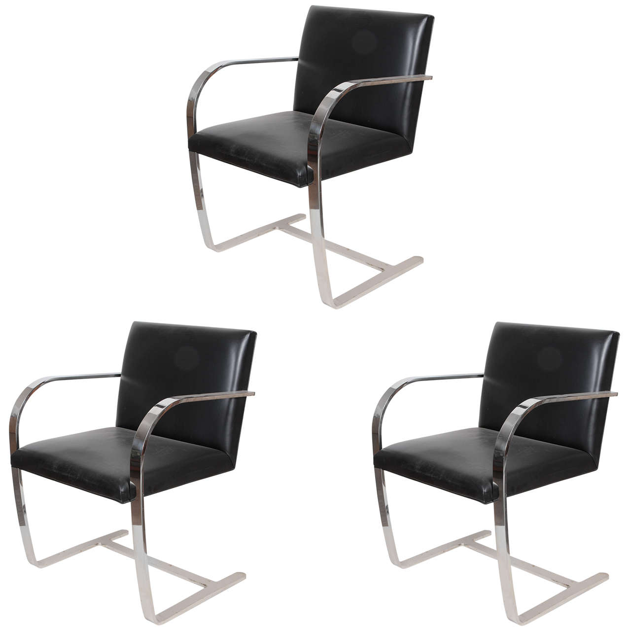 Mies Van Der Rohe Brno Chairs For Knoll At 1stdibs
