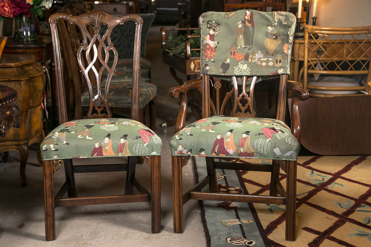 Set Of Eight Chippendale Dining Chairs By Baker Furniture Company. This  Fine Solid Mahogany Chippendale
