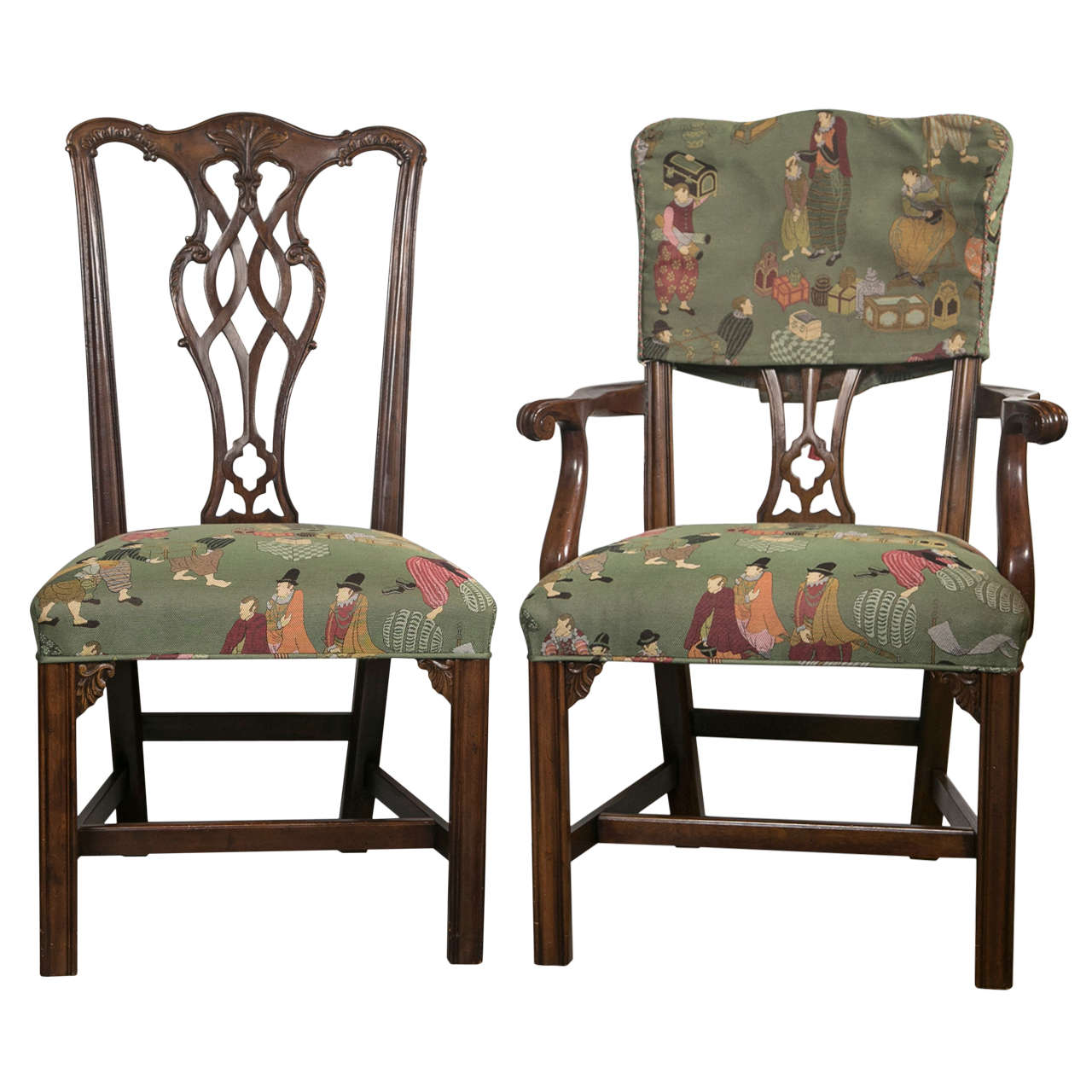 Set of eight chippendale dining chairs by baker at 1stdibs for 8 dining room chairs
