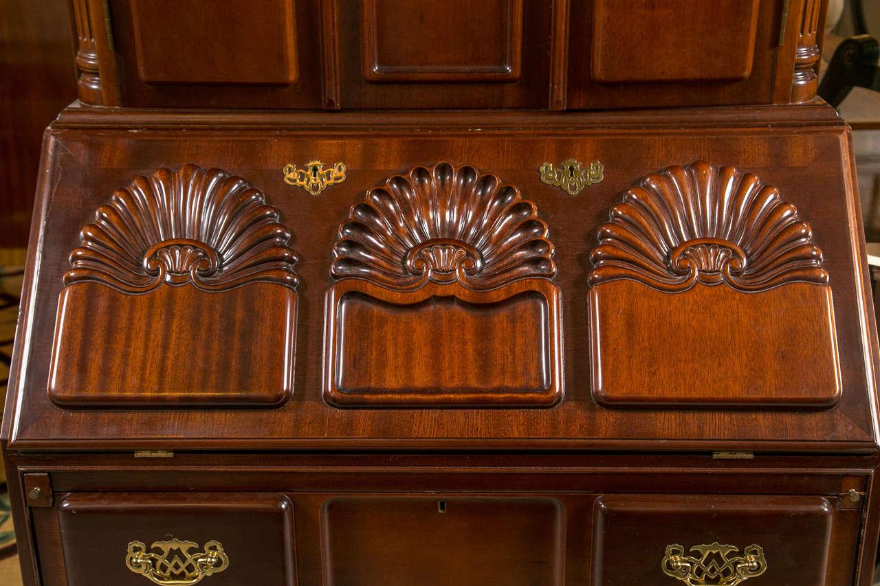 Antique Drop Front Secretary Desk >> Mahogany Block Front Georgian Style Goffard Townsend ...