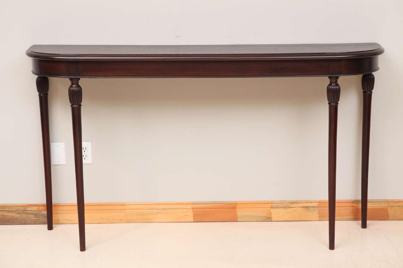 Tall Italian Mahogany Console Table 2