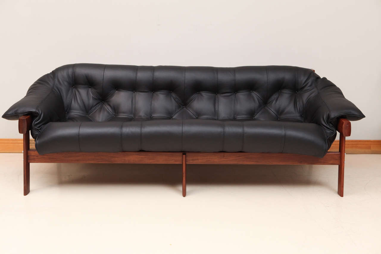 Percival Lafer Leather Sofa Completely Red New