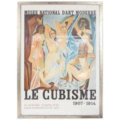Original Framed French 1953 Cubism Poster