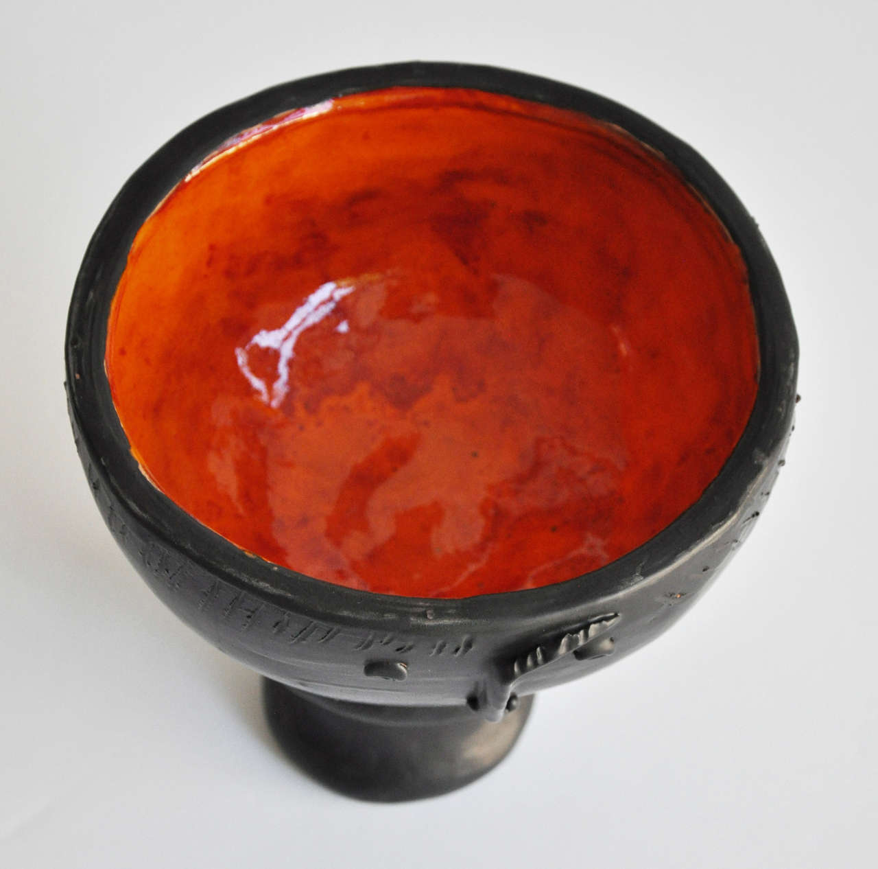 Midcentury French Ceramic Vase by Les Freres Cloutier In Excellent Condition For Sale In Winnetka, IL