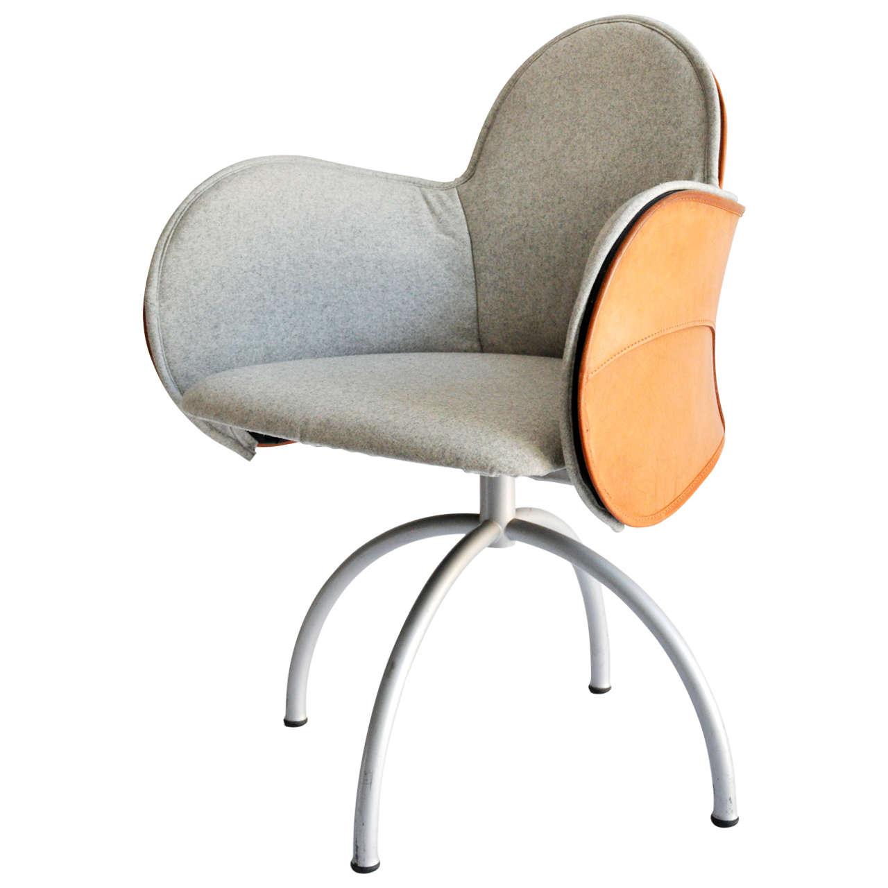 vico magistretti incisa swivel armchair 1990s 1