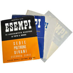 """ESEMPI"" Scarce Mid-Century Furniture Reference Books by Roberto Aloi"