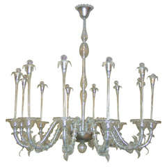 "Exceptional 1950s ""Water Jet"" Chandelier by André Arbus"