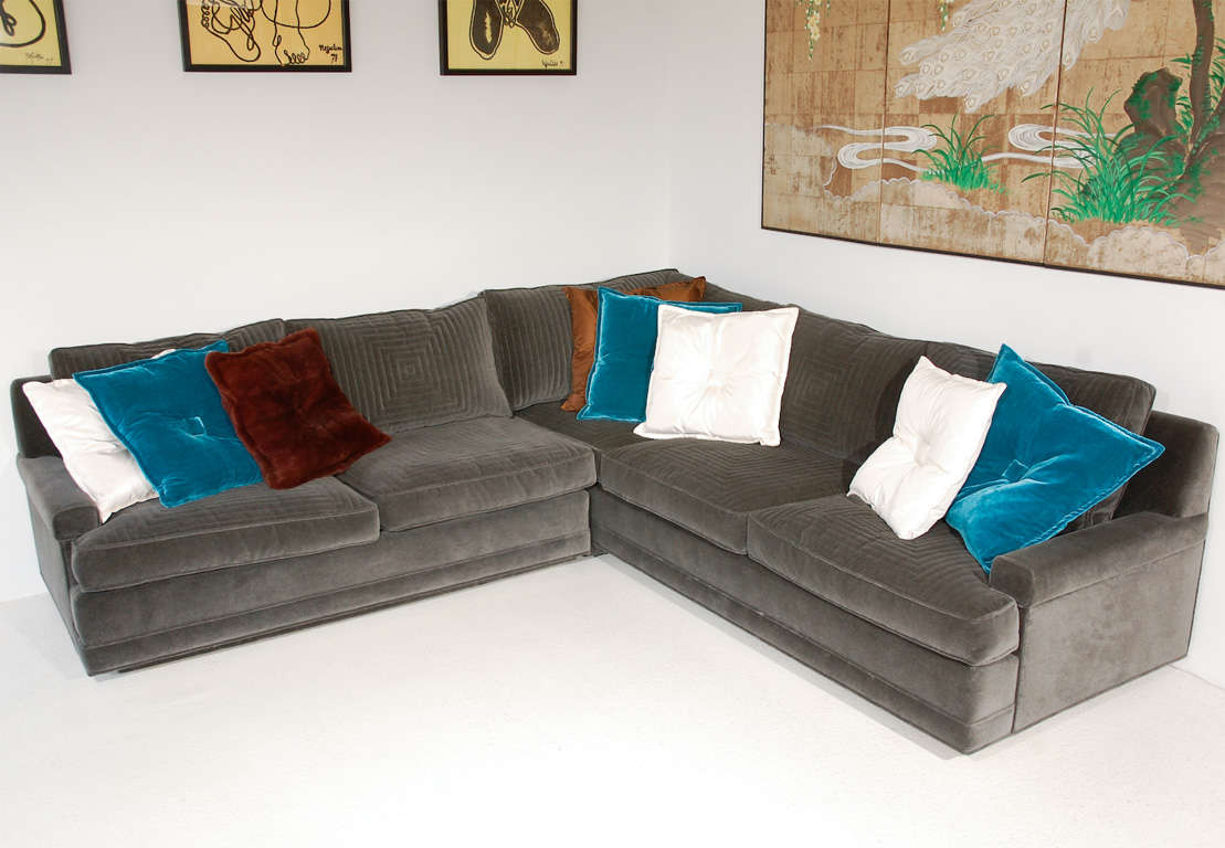 Custom Quilted Sectional Sofa By William Haines At 1stdibs