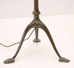 Bronze Floor Lamp with Damascene Shade by Louis Comfort Tiffany image 3
