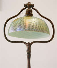 Bronze Floor Lamp with Damascene Shade by Louis Comfort Tiffany image 7