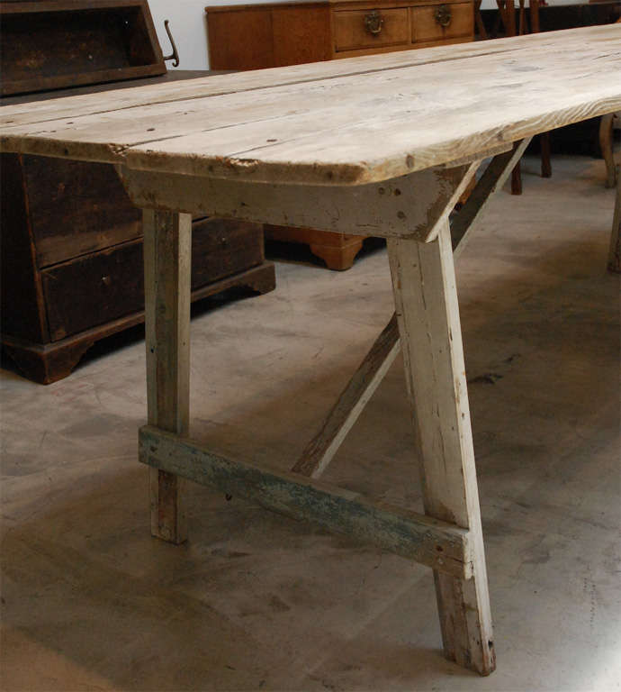 Early American Dining Room Furniture: Early American Dining Table, New England At 1stdibs
